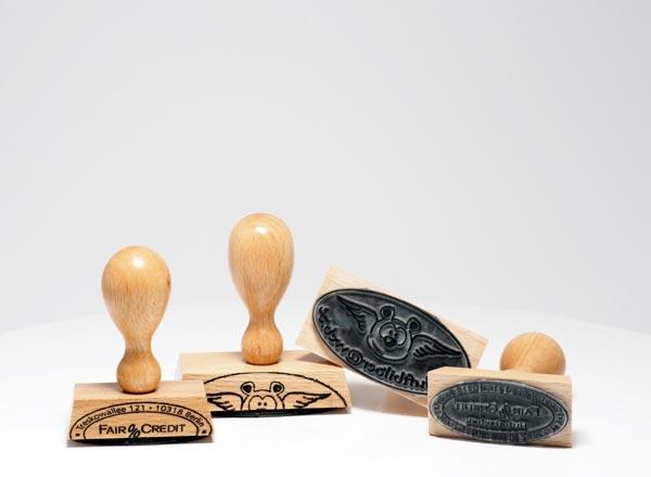 Holzstempel Oval