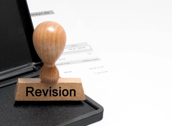 Lagerstempel: Revision