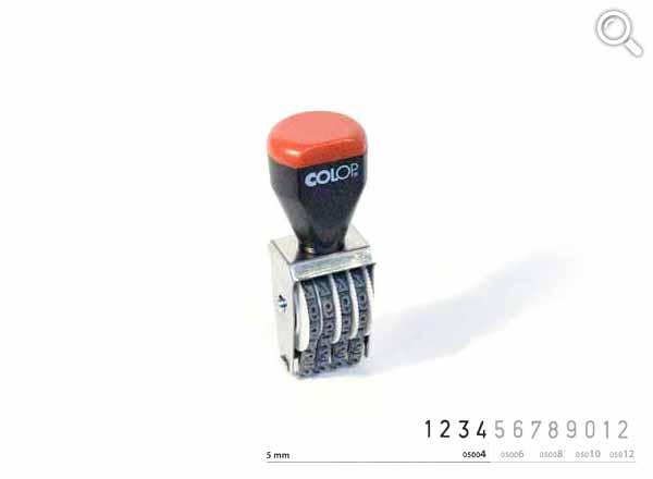Ziffernbandstempel 05004