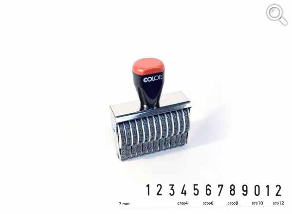 Ziffernbandstempel 07012