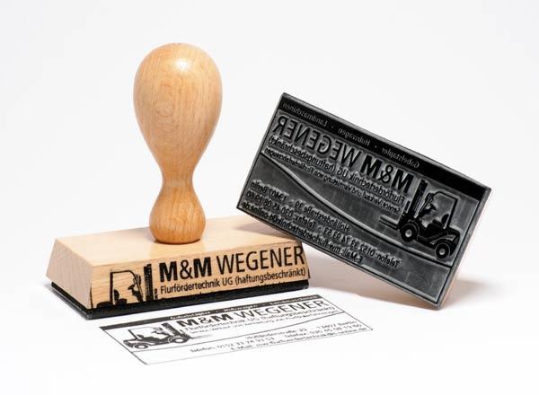 Holzstempel 130 x 50 mm