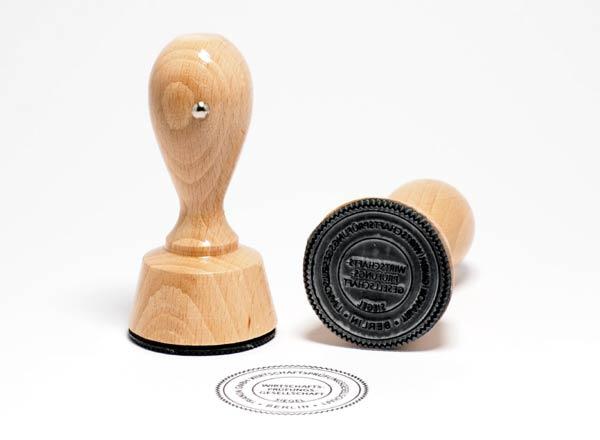 Holzstempel rund 70 mm