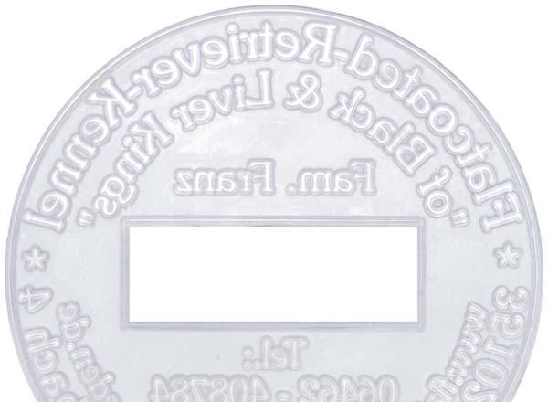 Stempel Textplatte R2045 6 Dater