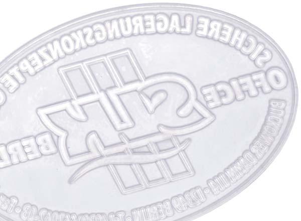 Stempel Textplatte Pocket Stamp Oval 30