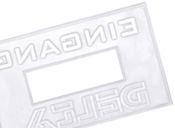 Stempel Textplatte 3660