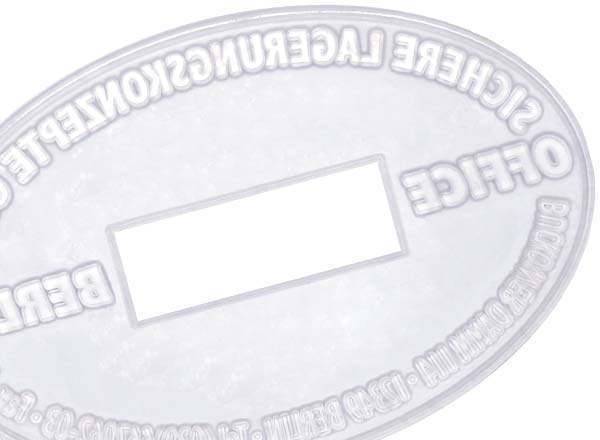 Stempel Textplatte P700/22 Oval