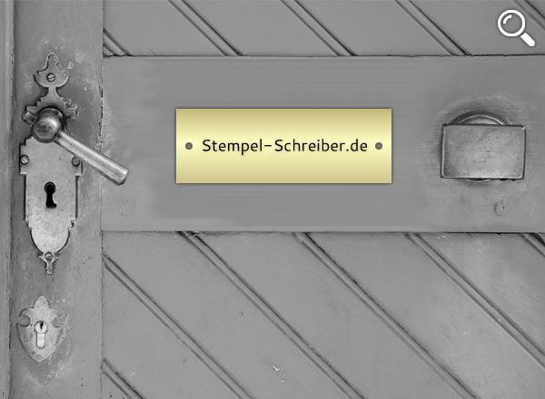 Türschild Messing Z8/2