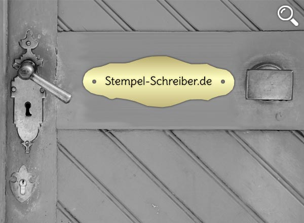 Türschild Messing Z9/1