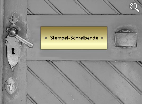 Türschild Messing Z6/2