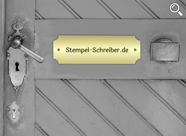 Türschild Messing Z6/1