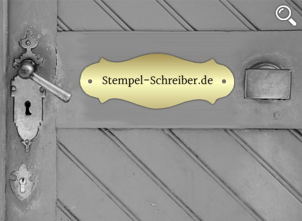 Türschild Messing Z11
