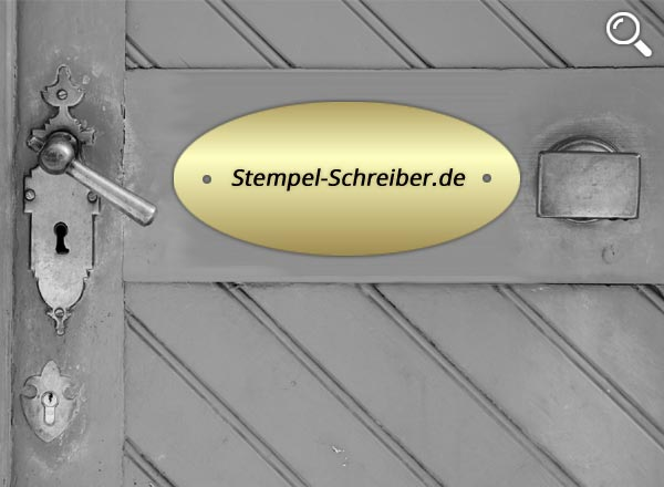 Türschild Messing Z1/1