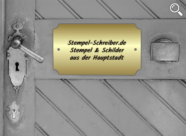 Türschild Messing Z5/1