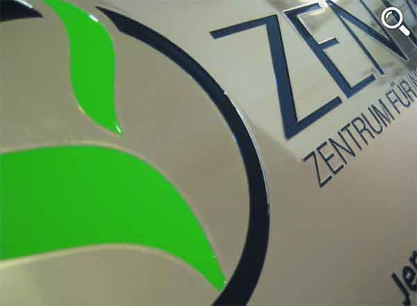 Firmenschild Messing 300 x 200 mm