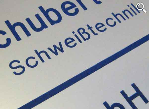 Firmenschild Aluminium 150 x 100 mm