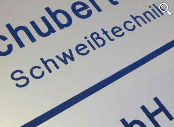 Firmenschild Aluminium 400 x 100 mm